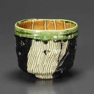池田 織部茶碗