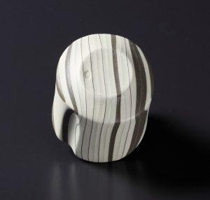 積層刳貫手 竹盃(茶) 片山亜紀